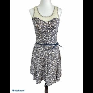 3/$30 Doe & Rae fit and flair lace rose dress